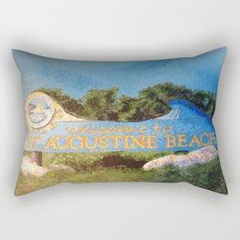 St. Augustine Beach Sign Rectangular Pillow