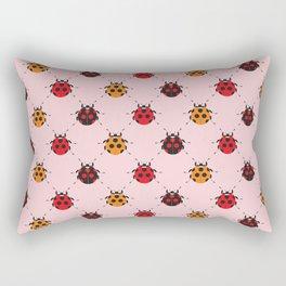 Ladybug Pink Rectangular Pillow