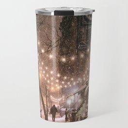 Snow - New York City - East Village Travel Mug