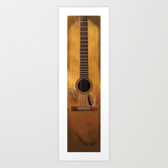 Willie Nelson's Trigger Guitar Art Print