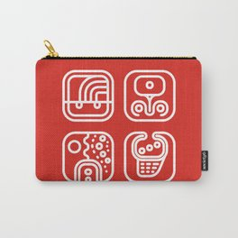 Mayan Glyphs ~ ABSTRACT Carry-All Pouch
