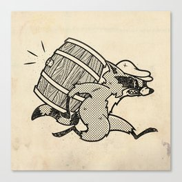 THE  WHISKEY SMUGGLER - vintage cartoon 80's Canvas Print