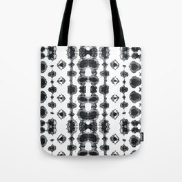 Shibori Ikat Habotoi BW Tote Bag