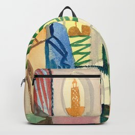 """August Macke """"In der Tempelhalle (In the Temple Hall)"""" Backpack"""