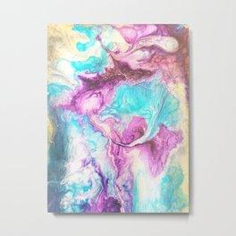 Colorful Resin Swirl Metal Print