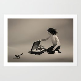 Luggage Art Print
