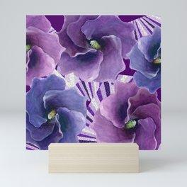 Purple Floral Inspiration Mini Art Print