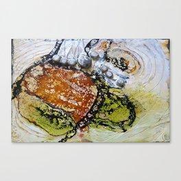Unhinged Dreams - Mixed Media Beeswax Encaustic Modern Fine Art, 2015 Canvas Print