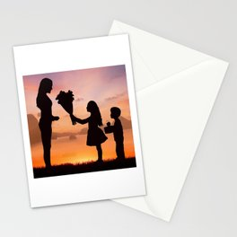 Mother and Children Stationery Cards