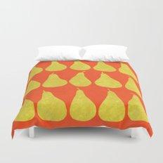 15 Pears (Orange) Duvet Cover