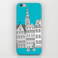 copenhagen iPhone & iPod Skins featuring Copenhagen by helena carrington