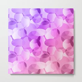 Pink And Purple Gradient Layered Ovals! Metal Print