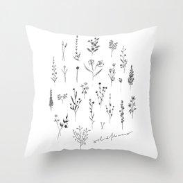 Wildflowers II Throw Pillow