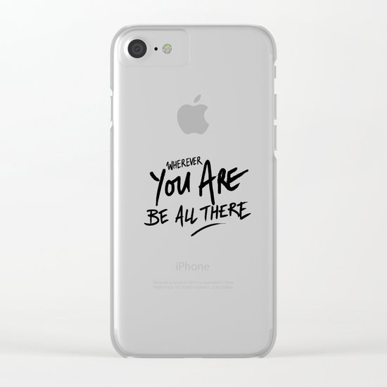 Be All There #2 Clear iPhone Case