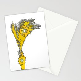 Yellow Palm Tree Stationery Cards