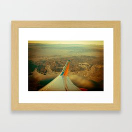 Southwest to LAX Framed Art Print