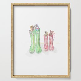 Christmas Boots 1 Serving Tray
