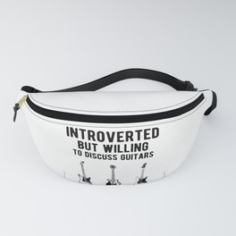 Funny Introverted Bass Guitarist - Guitar Player Fanny Pack
