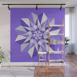 Diamond Purple Mandala Wall Mural