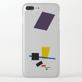 Geometric Abstract Malevic #3 Clear iPhone Case