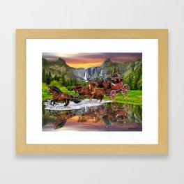 Wells Fargo Stagecoach Framed Art Print