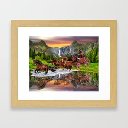 Wells Fargo Stagecoach Framed Art Print