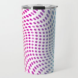Approaching and receding shapes in CMYK - Optical game 17 Travel Mug