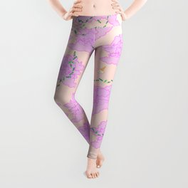 Cats on robot vacuum cleaners in pink clouds Leggings