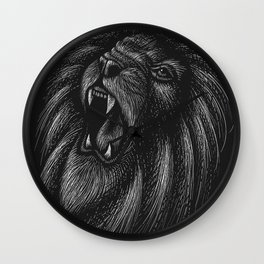 Lion Wild Big Cat Roar Wall Clock
