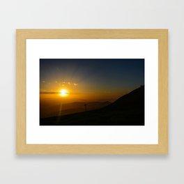 Alpine Sunset Framed Art Print