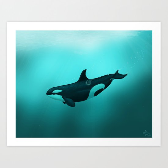 Lost in Paradise ~ Killer Whale ~ Orca ~ Original Version Art Print