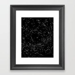 Constellation Map - Black Framed Art Print