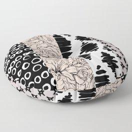 Vertical Stripe Patchwork Pattern Floor Pillow