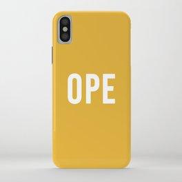 OPE Mustard iPhone Case