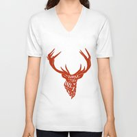 into the wild V-neck T-shirts featuring Wild by okionero