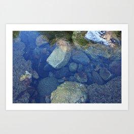 Rocks Under Water I Art Print