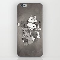 dogs iPhone & iPod Skins featuring Dogs by Ronan Lynam