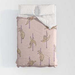 Sloths Pole Dancing Club Comforters