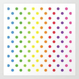 Fun Kids Polka Dot Pattern Art Print