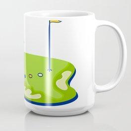 Golfer Caddie Golf Course Retro Coffee Mug