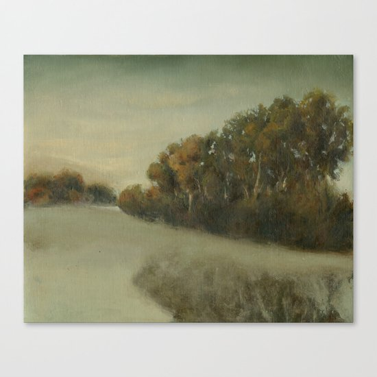 misty landscape Canvas Print