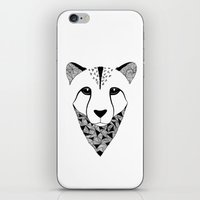 cheetah iPhone & iPod Skins featuring Cheetah by Art & Be