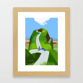 Japanese landscape Kumamoto Framed Art Print