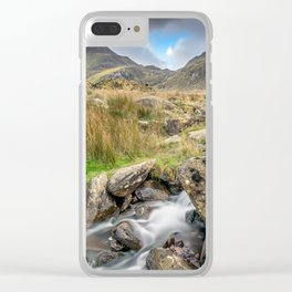 Tryfan Mountain River Clear iPhone Case