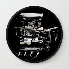 1932 Ford Hot Rod - Engine Wall Clock