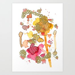 Radicchio Run Art Print