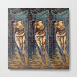 "Edward Burne-Jones ""The Depths of the Sea"" Metal Print"