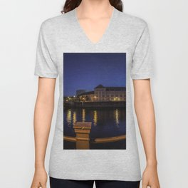 Photo Berlin Germany museums Bode Museum Fence Night Rivers Cities Building river night time Houses Unisex V-Neck
