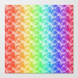 Rainbow Traingle Sponge Pattern Canvas Print