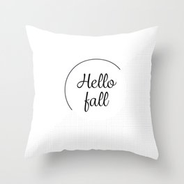 Hello fall | minimilist grid Throw Pillow